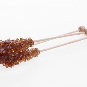 100 st bruna Candypinnar