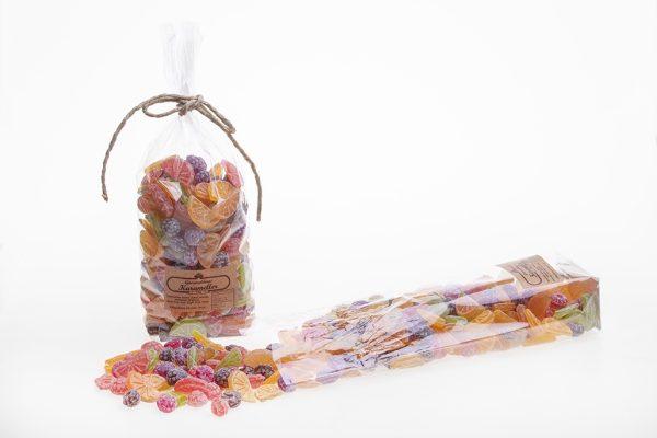 Mixed fruit candies 450g 20 st Cellofanpåse med Gammaldags karameller 450g