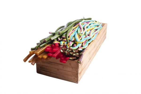 1 låda Blandade Godisremmar (60st)