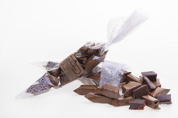 50 st strutar med 150g Gammaldags Chokladkola