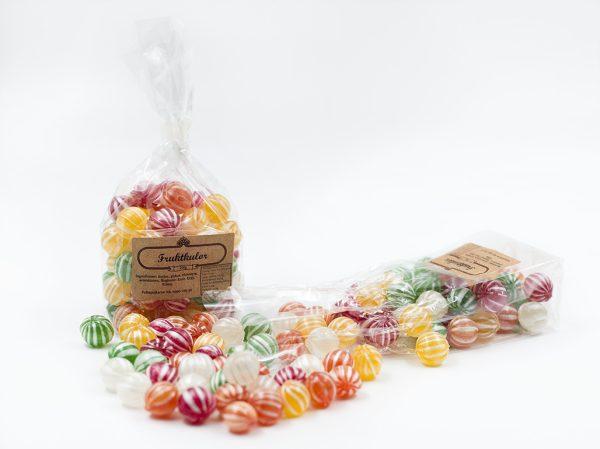 50 st Fruktkulor i mini-cellofanpåse 200g Fruit marbles (200g)