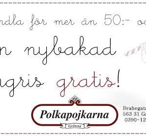 Få en nybakad polkagris gratis i Gränna